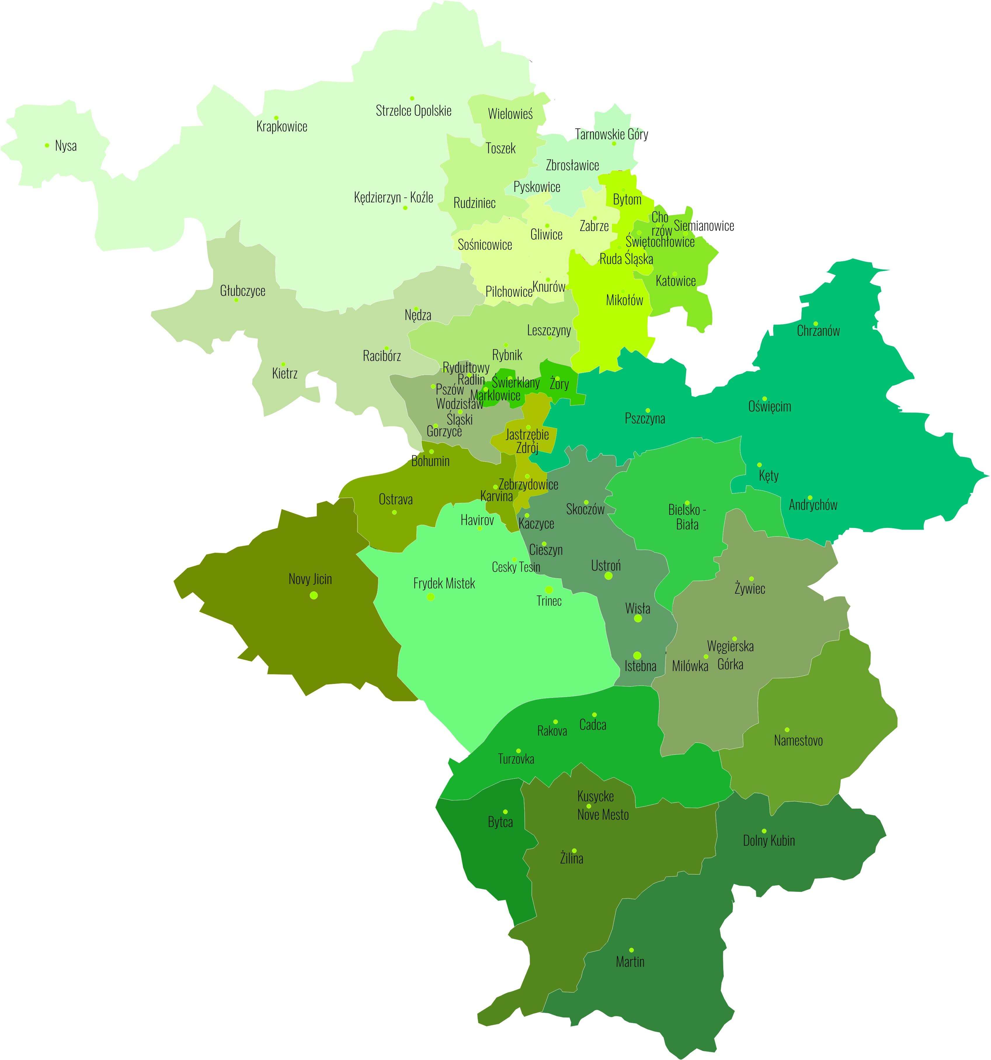 Vanselling: Mapka tras przedstawicieli