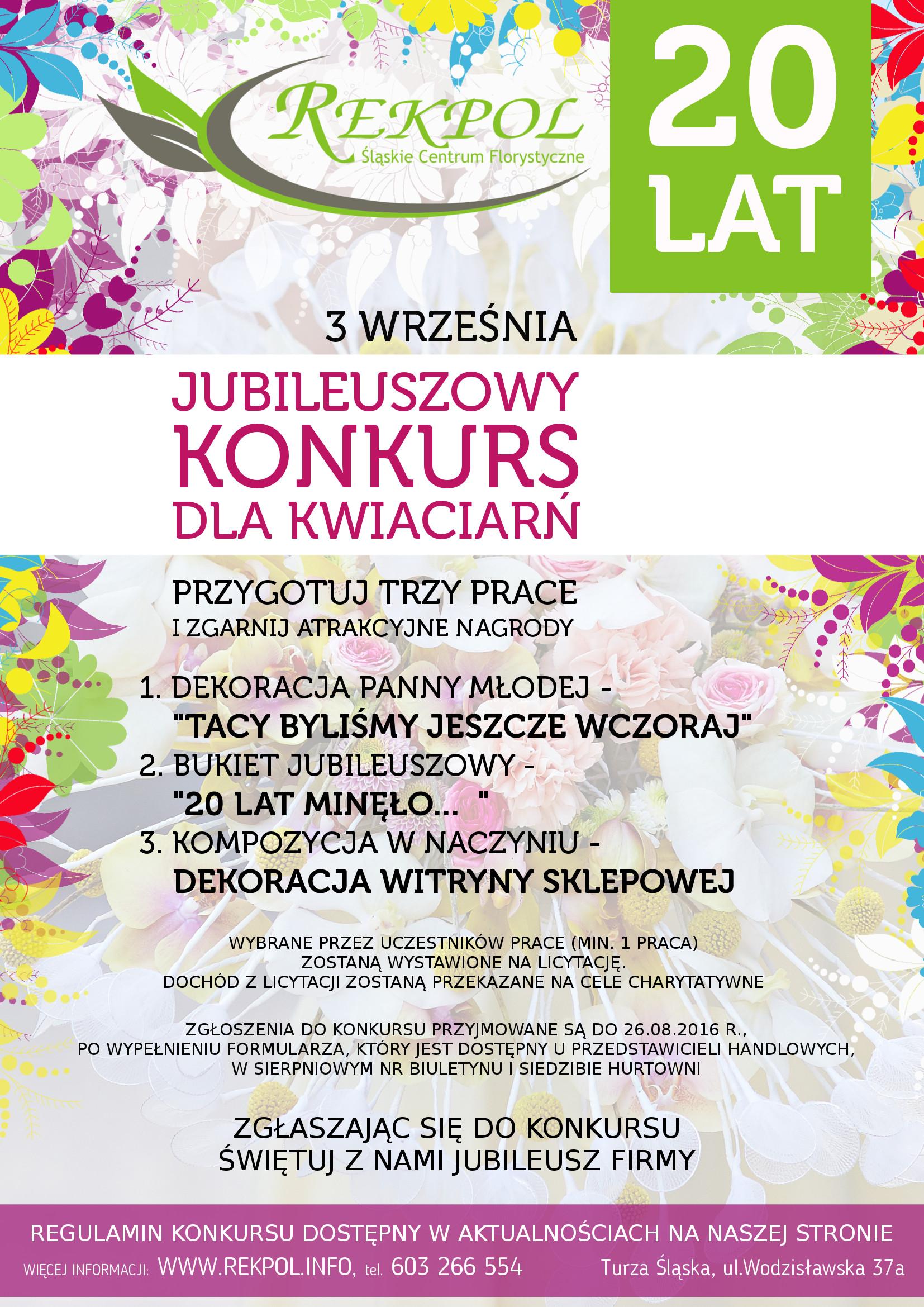 Jubileuszowy konkurs dla kwiaciarń