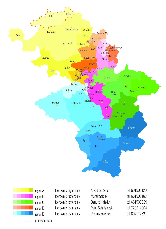 Kontakt zkierownikami regionalnymi